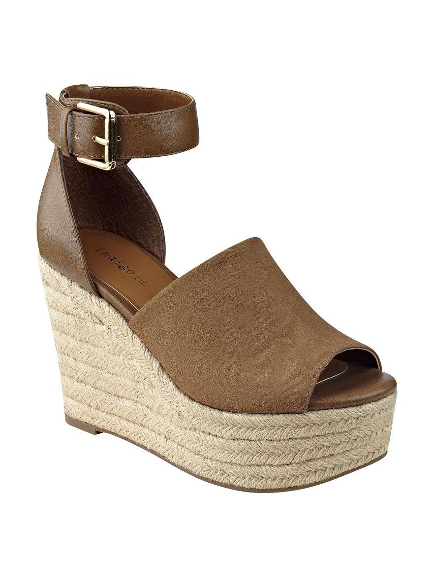 Indigo Rd. Toffee Espadrille Wedge Sandals