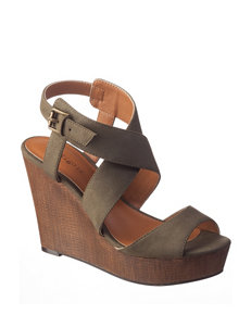 Indigo Rd. Green Wedge Sandals
