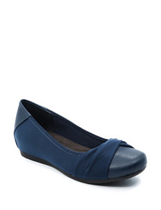 Bare Traps Navy Wedge Sandals
