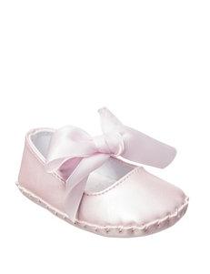 Wee Kids Pink Satin Bow Ballet Flats- Girls 1-4