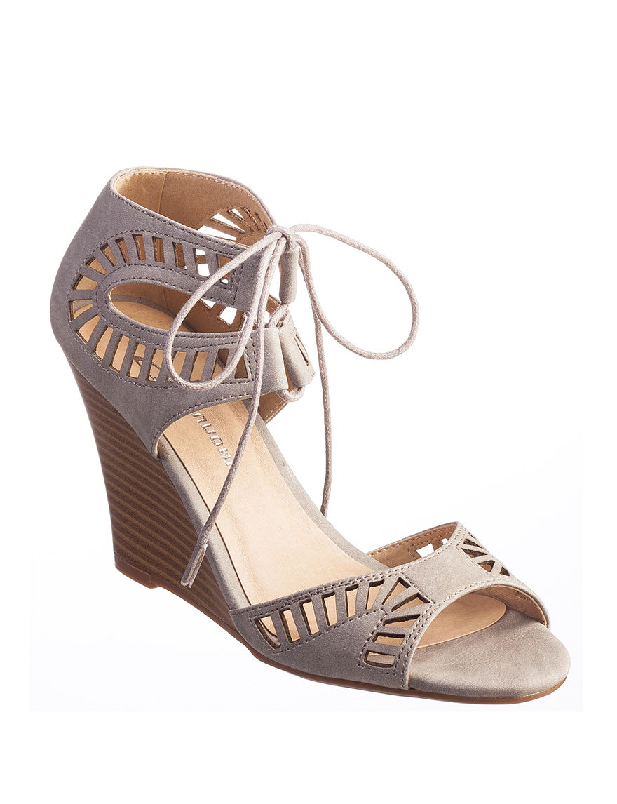 CL by Laundry Charcoal Wedge Sandals