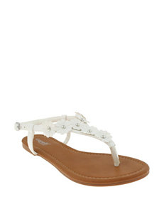 Capelli White Flat Sandals