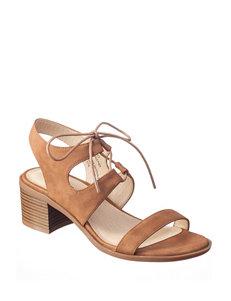 Seven Dials Tan Heeled Sandals