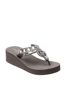 Olivia Miller Charcoal Flip Flops