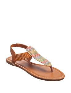 Olivia Miller Multi Flat Sandals