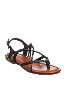 MIA Black Flat Sandals Gladiators