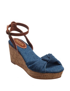 MIA Denim Wedge Sandals