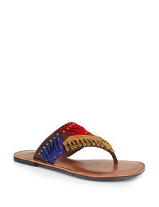 Dolce by Mojo Moxy Brown Flat Sandals Flip Flops