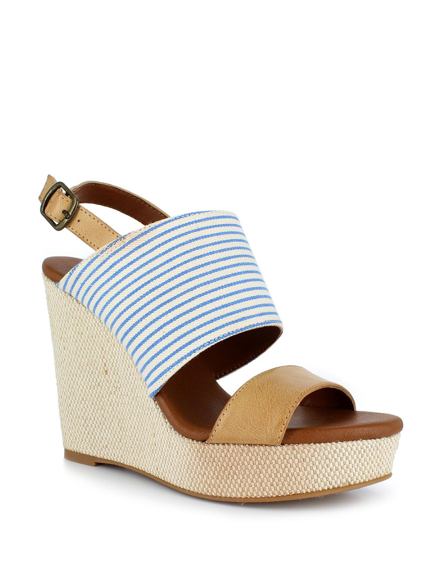 Dolce by Mojo Moxy Navy Wedge Sandals