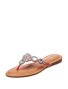 Capelli Coral Flat Sandals Flip Flops Wedge Sandals