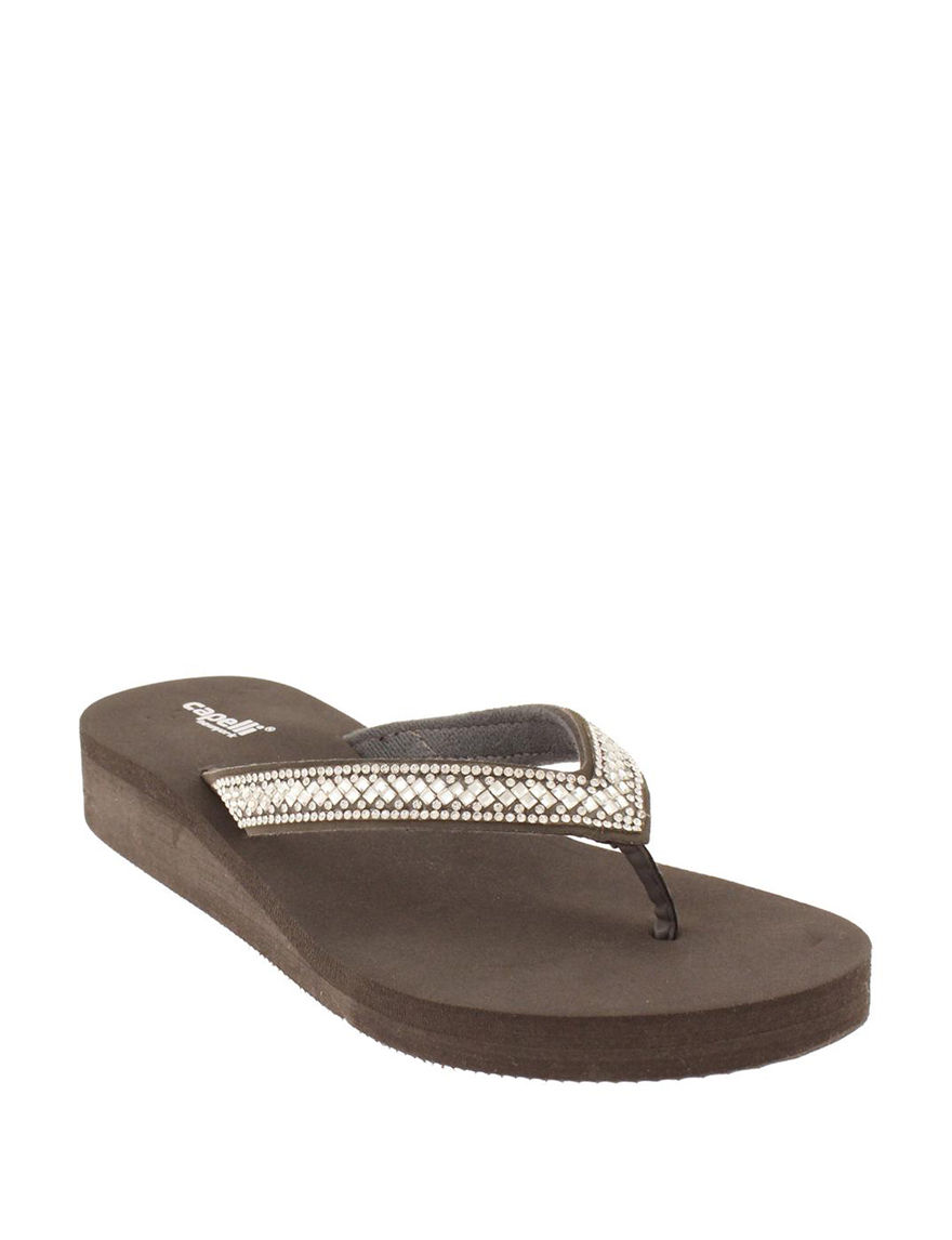 Capelli  Flip Flops Wedge Sandals