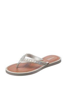 Capelli Silver Flat Sandals Flip Flops
