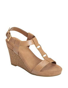 A2 by Aerosoles Nude Wedge Sandals