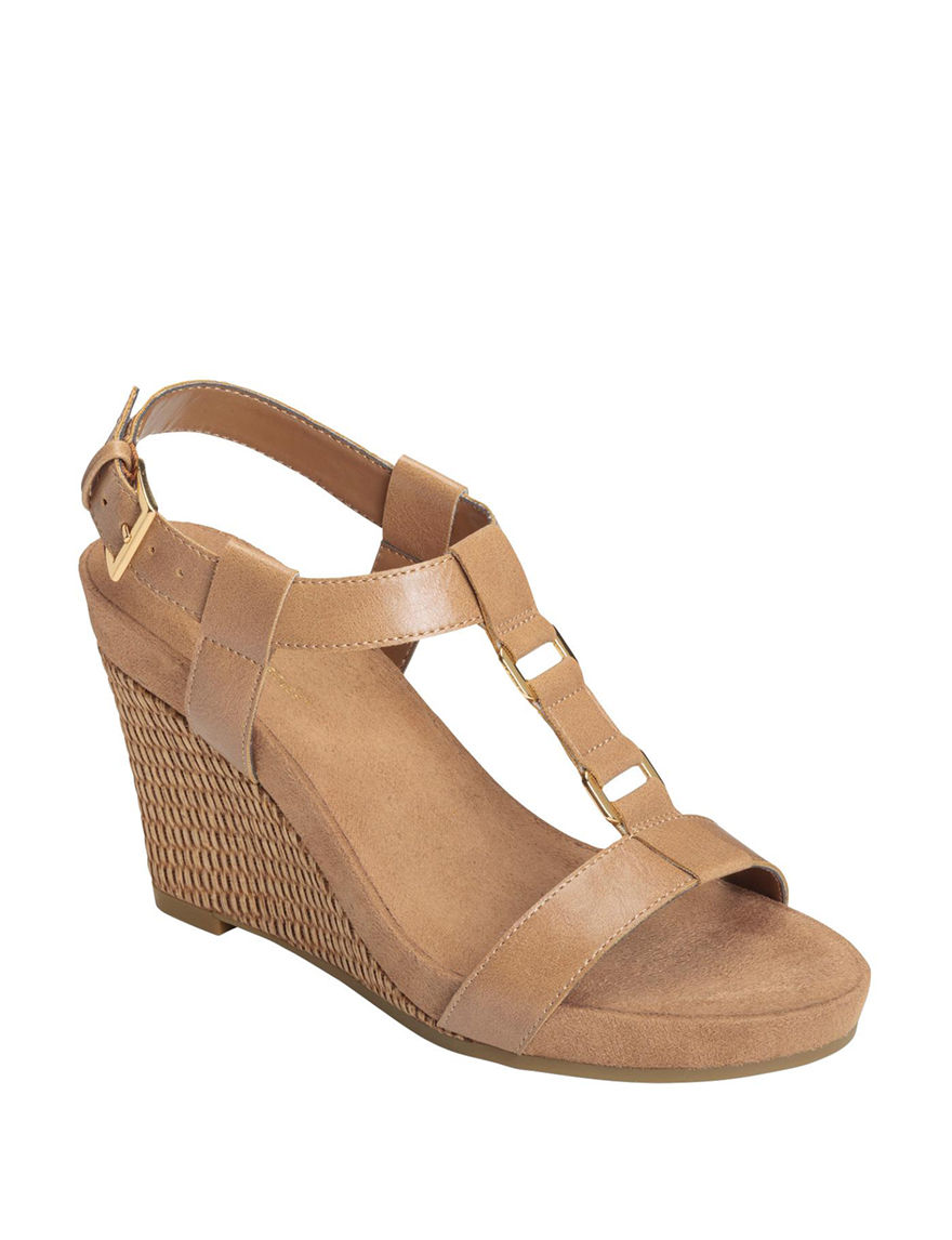 A2 by Aerosoles Nude Espadrille Wedge Sandals Comfort
