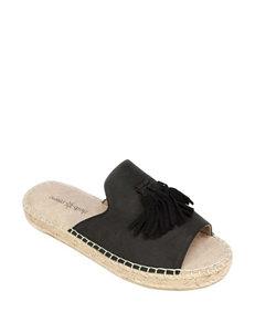 Seven Dials Black Espadrille Sandals Flat Sandals
