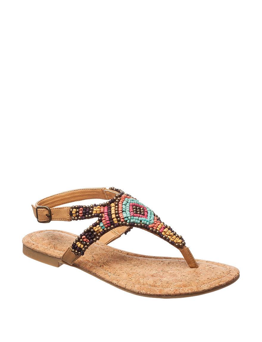 Sugar Tan Flat Sandals