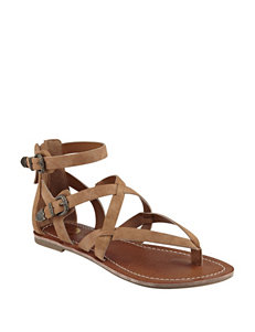 G by Guess Brown Flat Sandals