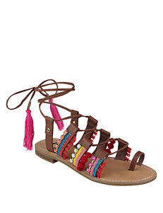 G by Guess Brown Flat Sandals Gladiators