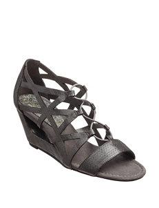 New York Transit Pewter Wedge Sandals