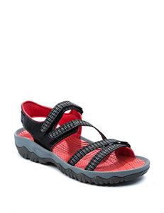 Bare Traps Black Sport Sandals Comfort
