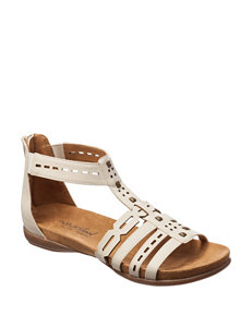 Natural Soul Shell Flat Sandals Gladiators