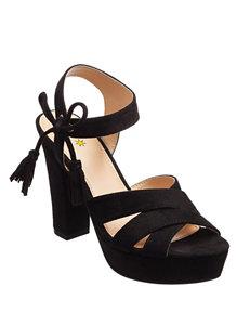 Seven Dials Black Heeled Sandals