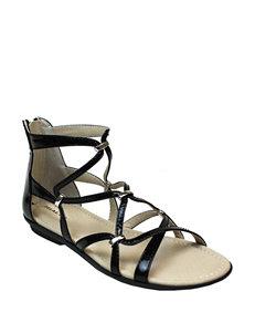 Rialto Black Flat Sandals