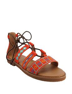 Groove Footwear Red Flat Sandals
