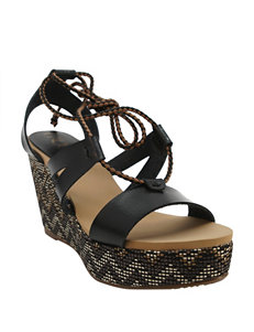 Groove Footwear Black Wedge Sandals