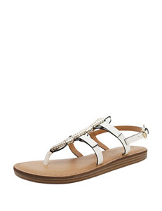 Groove Footwear white/gold Espadrille Sandals
