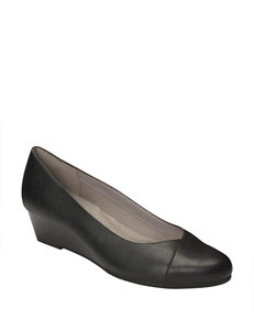 A2 by Aerosoles Black Wedge Pumps Comfort