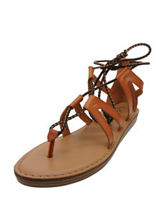 Groove Footwear Cognac Flat Sandals