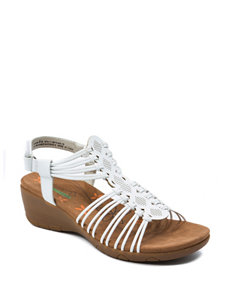 Bare Traps White Wedge Sandals Comfort