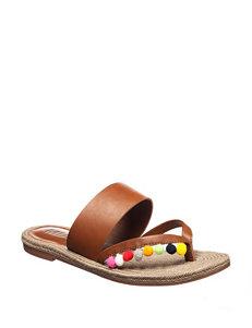 MIA Tan Flat Sandals Flip Flops