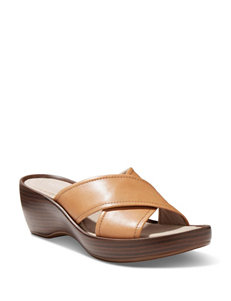 Eastland Light Brown Wedge Sandals