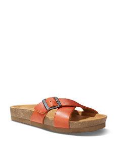 Eastland Bright Orange Flat Sandals