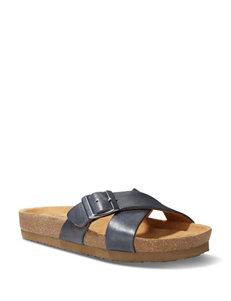 Eastland Navy Flat Sandals