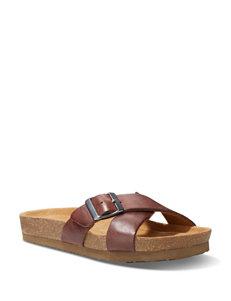 Eastland Walnut Flat Sandals