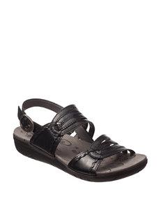 Bare Traps Black Flat Sandals Comfort