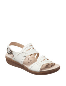 Bare Traps White Flat Sandals Comfort