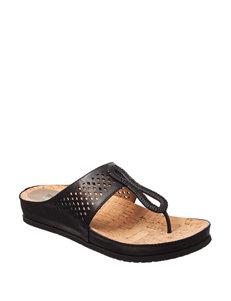 Bare Traps Black Flat Sandals