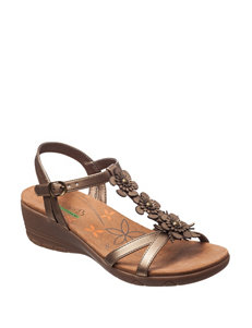 Bare Traps Bronze Wedge Sandals Comfort