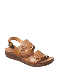Bare Traps Light Brown Flat Sandals Comfort