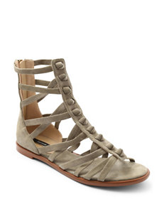 Kensie Taupe Flat Sandals Gladiators