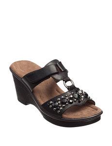 Natural Soul Black Slipper Sandals