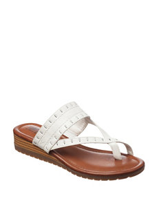 Cliffs White Flat Sandals Flip Flops