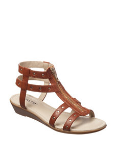 Rialto Tan Gladiators Wedge Sandals Comfort