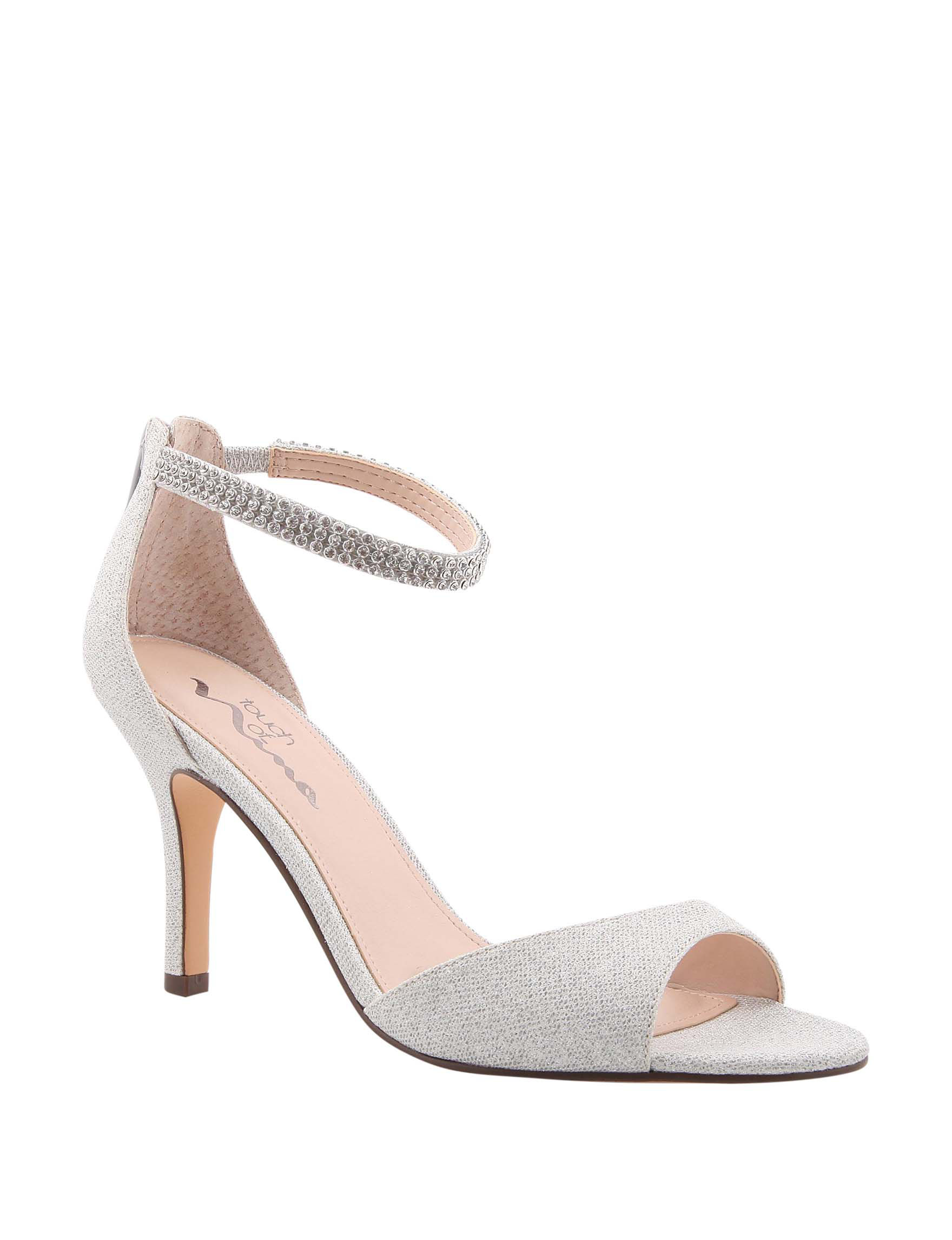 Touch of Nina Silver Heeled Sandals
