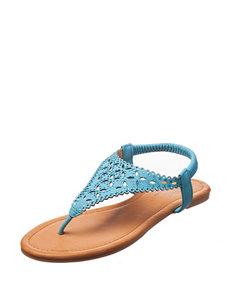 Olivia Miller Turquiose Flip Flops