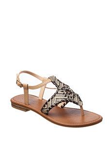 Olivia Miller Tan / Black Flip Flops